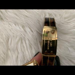 Gold and tortoise Michael Kors cuff bracelet